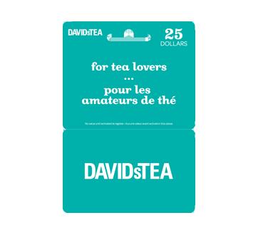 Carte-cadeau David's Tea de 25 $, 1 unité