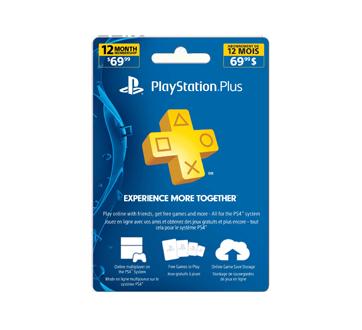 carte playstation plus 12 mois PlayStation Plus abonnement de 12 mois, 1 unité – Incomm : Cartes
