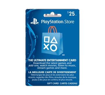 Carte-cadeau PlayStation Store de 25 $, 1 unité