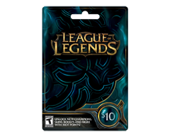Image du produit Incomm - Carte-cadeau League of Legends de 10 $, 1 unité