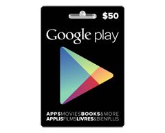 Image du produit Incomm - Carte-cadeau Google Play de 50 $