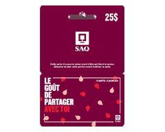Image du produit Incomm - Carte-cadeau SAQ de 25 $