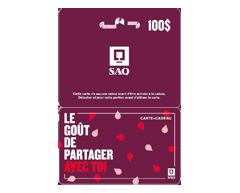 Image du produit Incomm - Carte-cadeau SAQ de 100 $, 1 unité