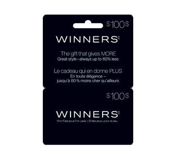 Carte-cadeau Winners de 100$, 1 unité