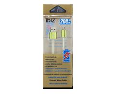 Image du produit ibiZ - Chargeur et câble de synchronisation micro USB pour Android, 1 unité