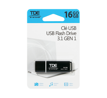 Clé USB 16 Go, 1 unité