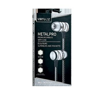 Metal Pro écouteurs supérieurs avec pochette, 1 unité, métalliques