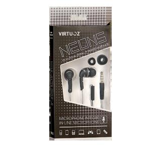 Neons écouteurs stéréo avec microphone intégré, 1 unité, noir
