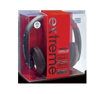 Image 2 du produit Virtuoz - Casque d'écoute Extreme, 1 unité, noir et rouge