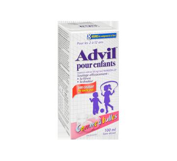 Image 2 du produit Advil - Advil suspension pour enfants sans colorant, 100 ml, gomme à bulles
