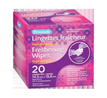 Lingettes fraîcheur, 20 unités