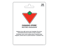 Image du produit Incomm - Carte-cadeau Canadian Tire de 25 $, 1 unité