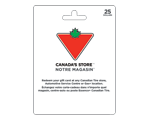 Carte-cadeau Canadian Tire de 25 $