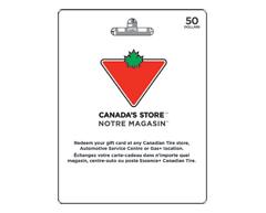 Image du produit Incomm - Carte-cadeau Canadian Tire de 50 $, 1 unité