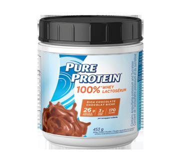 100 poudre de prot ines de lactos rum 453 g chocolat riche pure protein nutritionnel - Produit riche en proteine ...