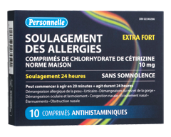 Image du produit Personnelle - Soulagement des allergies extra fort, 10 unités