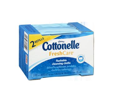 Image 2 du produit Cottonelle - FreshCare débarbouillettes jetables dans les toilettes, 84 unités