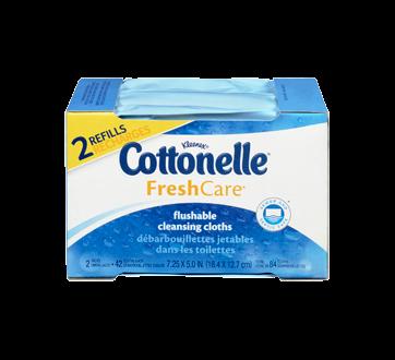 Image 3 du produit Cottonelle - FreshCare débarbouillettes jetables dans les toilettes, 84 unités