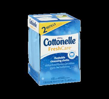 Image 5 du produit Cottonelle - FreshCare débarbouillettes jetables dans les toilettes, 84 unités
