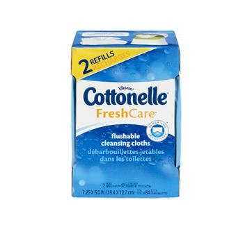 Image 6 du produit Cottonelle - FreshCare débarbouillettes jetables dans les toilettes, 84 unités