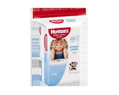 Image du produit Huggies - Simply Clean lingettes sans parfum recharge, 240 unités