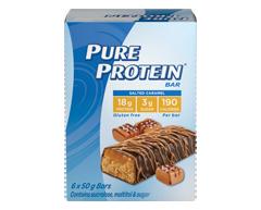 Image du produit Pure Protein - Barres protéinées, 6 x 50 g, chocolat et caramel salé