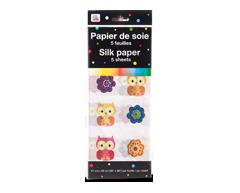 Image du produit PJC - Papier de soie, 5 feuilles, motif de hiboux