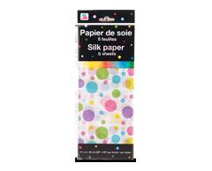 Image du produit PJC - Papier de soie, 5 feuilles, motif de bulles