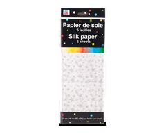 Image du produit PJC - Papier de soie, 5 feuilles, motif d'étoiles