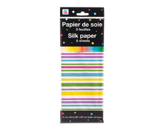 Image du produit PJC - Papier de soie, 5 feuilles, motif de rayures