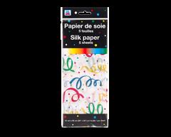 Image du produit PJC - Papier de soie, 5 feuilles, motif de rubans