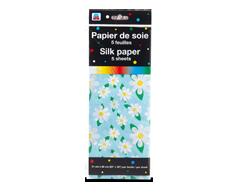 Image du produit PJC - Papier de soie, 5 feuilles, motif de fleurs