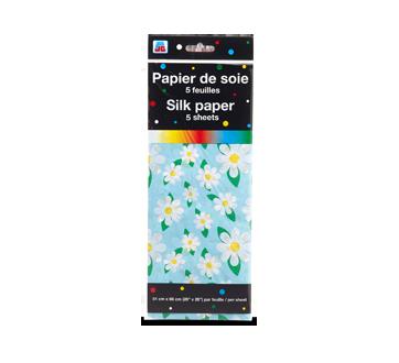 Papier de soie, 5 feuilles, motif de fleurs