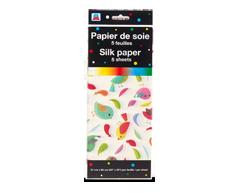 Image du produit PJC - Papier de soie, 5 feuilles, motif d'oiseaux
