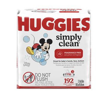 Simply Clean lingettes pour bébés, 3 x 64 unités, sans parfum