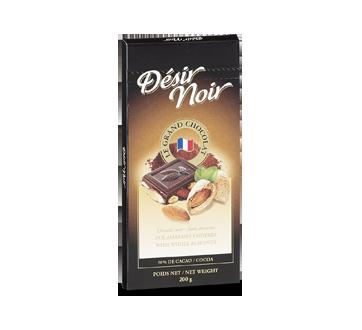 Tablette chocolat noir aux amandes entières, 200 g