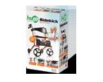 Ambulateur à pliage latéral avec siège- SidekickTM- tangerine