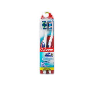 360 brosse à dents, 2 unités, moyenne