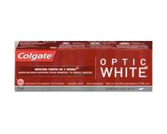 Image du produit Colgate - Optic White dentifrice, 75 ml, menthe éclatante