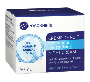 Crème de nuit hydratante, 50 ml, peau normale