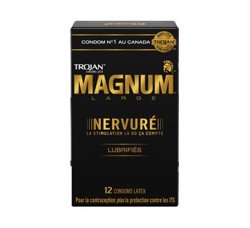 Image 2 du produit Trojan - Magnum Nervuré condoms lubrifiés, 12 unités