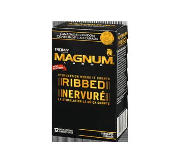 Image 3 du produit Trojan - Magnum Nervuré condoms lubrifiés, 12 unités