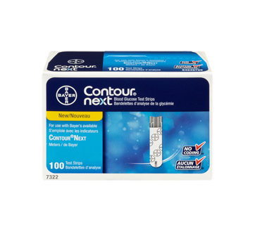 Image 3 du produit Contour - Contour Next bandelettes d'analyse de glycémie, 100 unités
