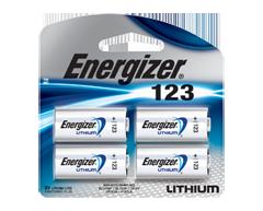 Image du produit Energizer - 123 piles lithium, 4 unités