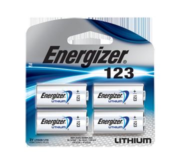 123 piles lithium, 4 unités