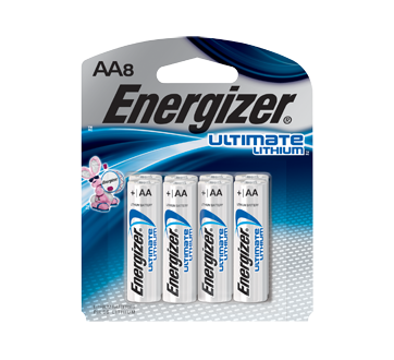 Ultimate AA piles lithium, 8 unités