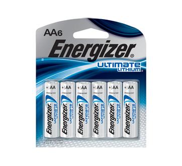 Ultimate AA piles lithium, 6 unités