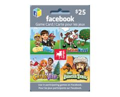 Image du produit Incomm - Carte-cadeau virtuelle Facebook Zynga de 25 $