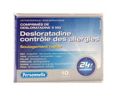 Image du produit Personnelle - Desloratadine contrôle des allergies, 10 unités