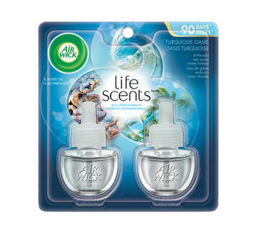 Life Scents recharge d'huile parfumée, 2 x 20 ml, oasis turquoise